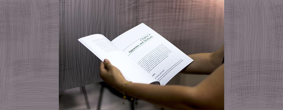 foto de la impresión final de un documento