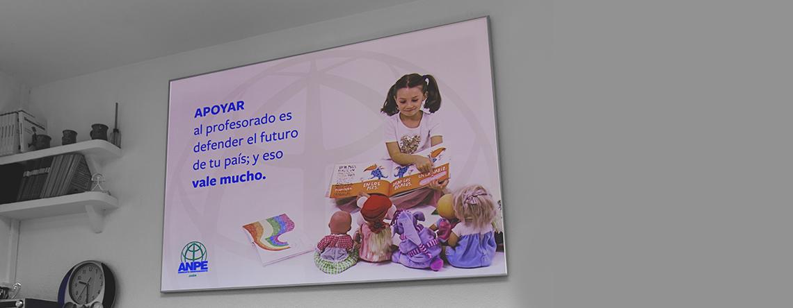 cartel de publicidad de ANPE