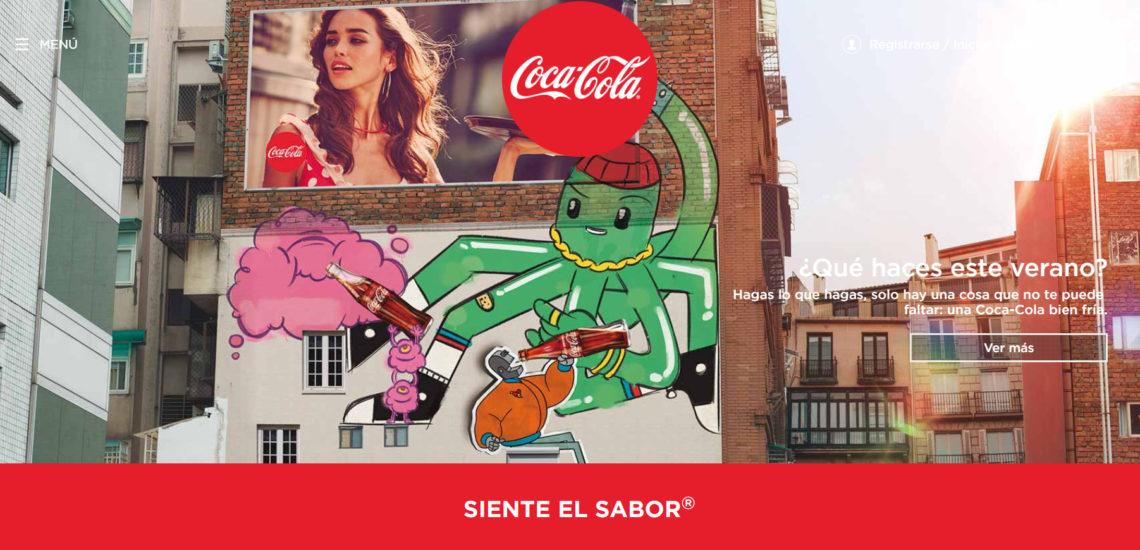 anuncio publicitario de cocacola