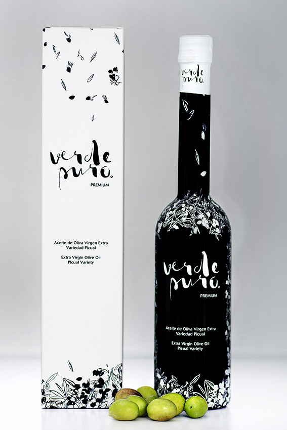 Packaging Aceite de Oliva Virgen Extra Verde Puro Premium